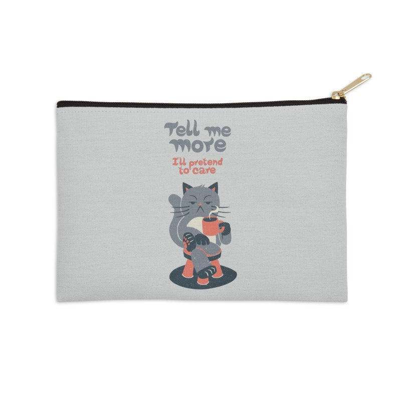 Ironicat Accessories Zip Pouch by Tobe Fonseca's Artist Shop