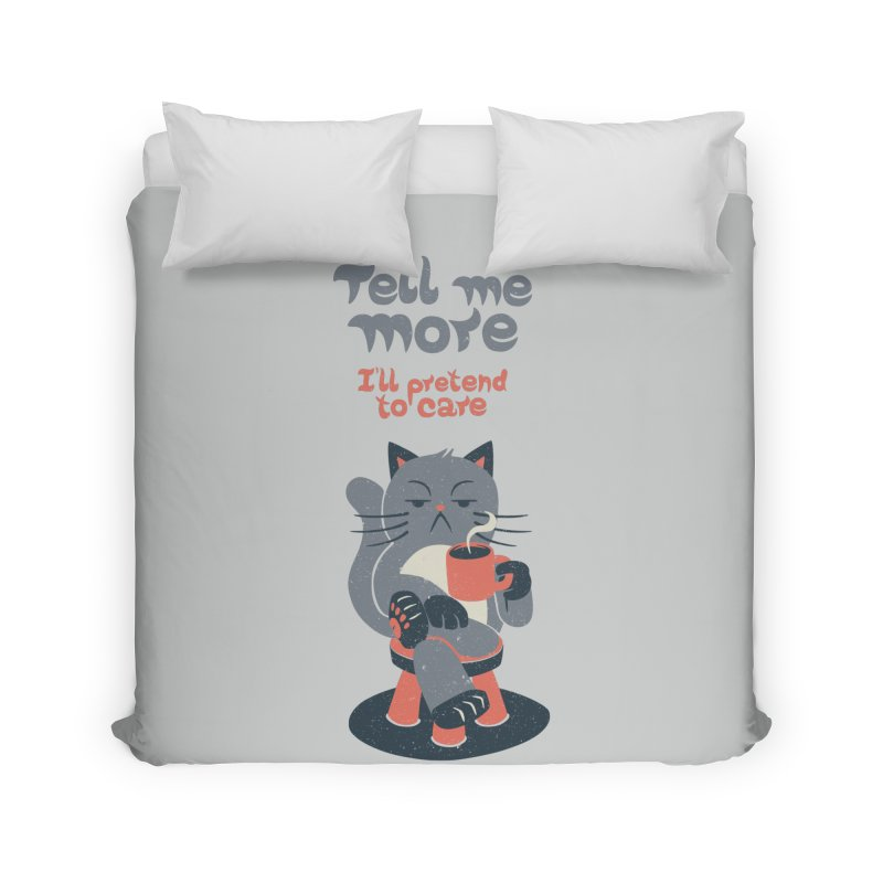 Ironicat Home Duvet by Tobe Fonseca's Artist Shop