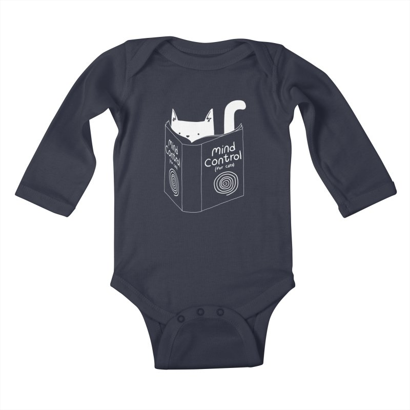 Mind Control for Cats Kids Baby Longsleeve Bodysuit by Tobe Fonseca's Artist Shop