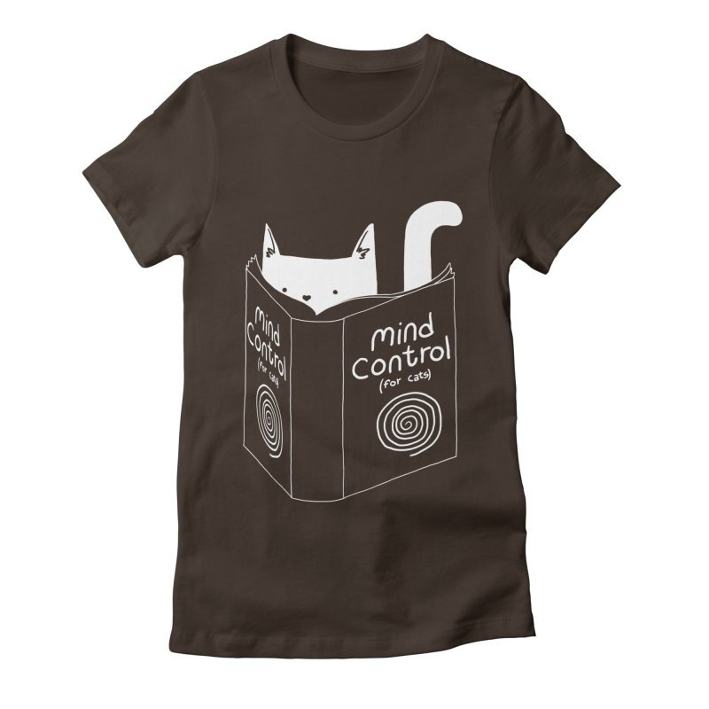Mind Control for Cats Women's Fitted T-Shirt by Tobe Fonseca's Artist Shop