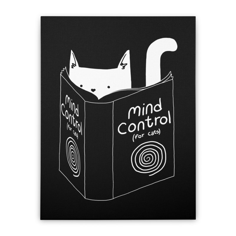 Mind Control for Cats Home Stretched Canvas by Tobe Fonseca's Artist Shop