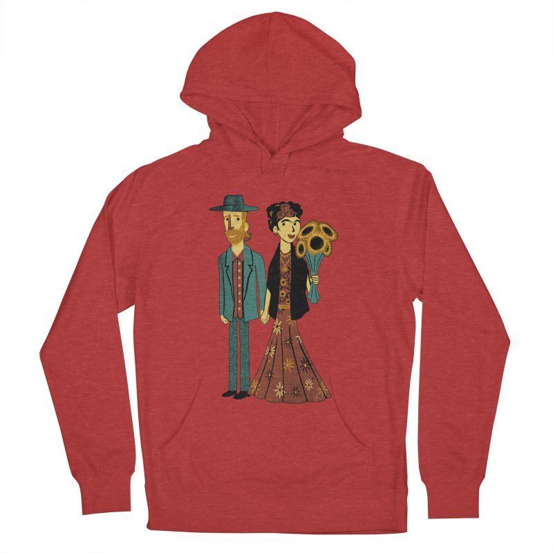 Love is Art Frida Kahlo and Van Gogh  Women's Pullover Hoody by Tobe Fonseca's Artist Shop