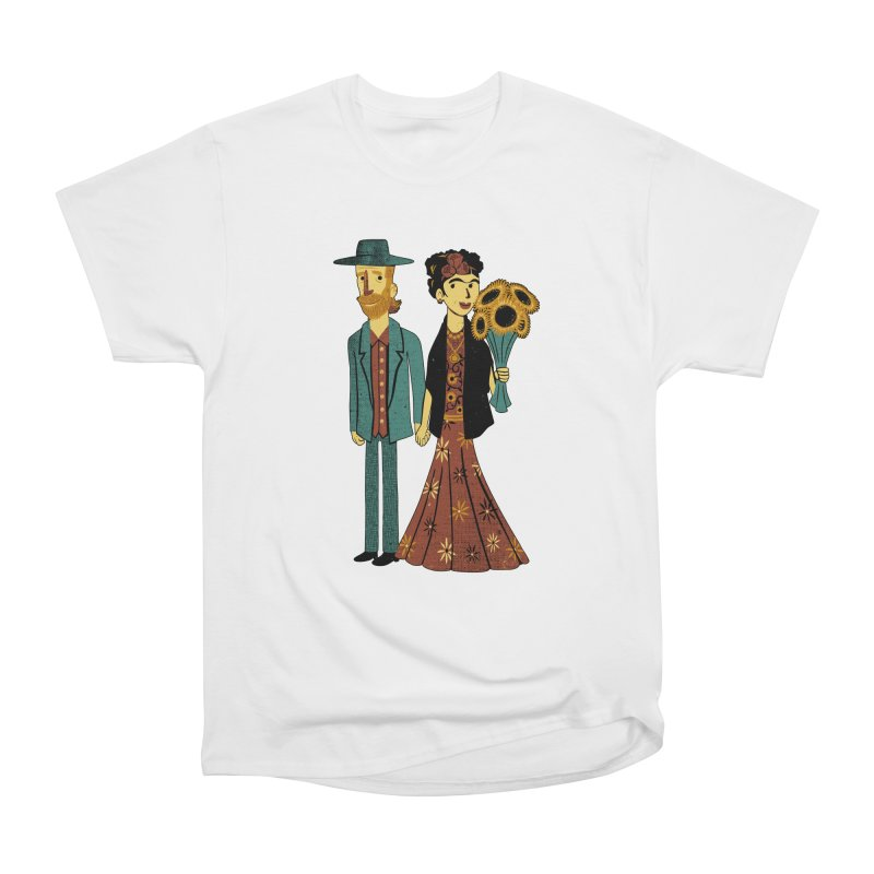 Love is Art Frida Kahlo and Van Gogh  Women's Classic Unisex T-Shirt by Tobe Fonseca's Artist Shop