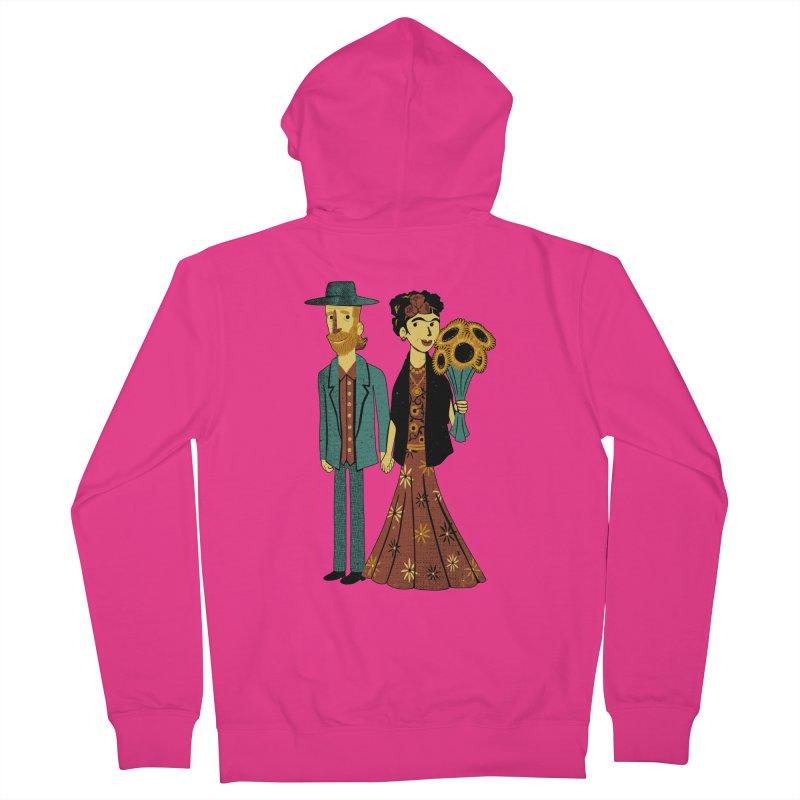 Love is Art Frida Kahlo and Van Gogh  Men's Zip-Up Hoody by Tobe Fonseca's Artist Shop