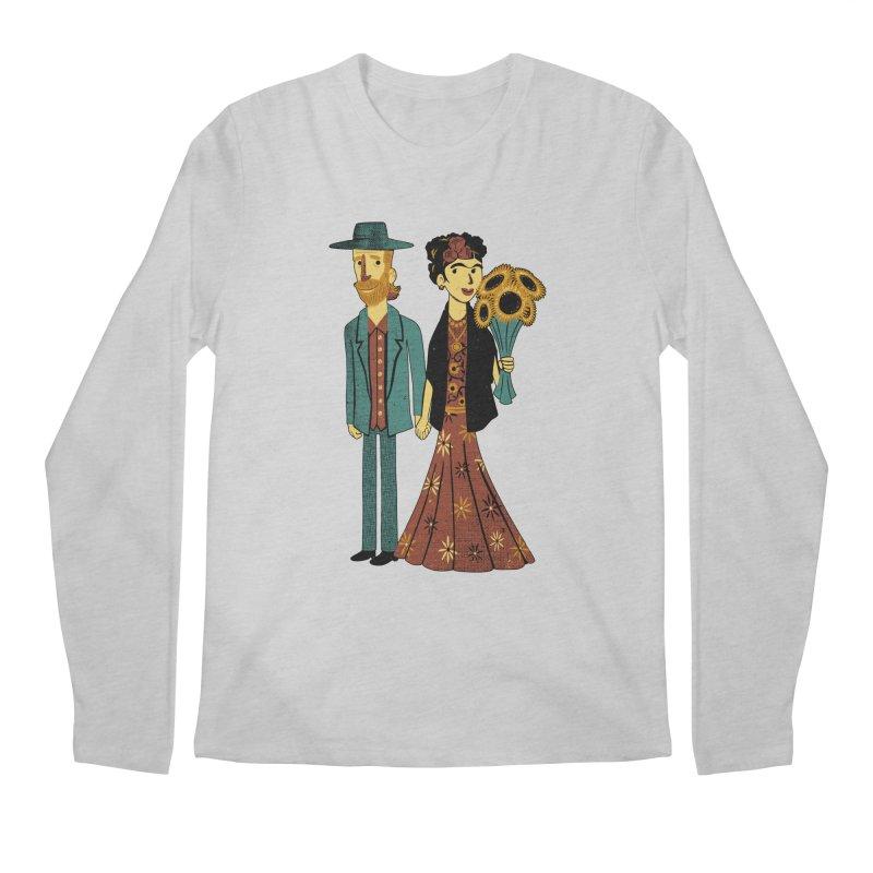 Love is Art Frida Kahlo and Van Gogh  Men's Longsleeve T-Shirt by Tobe Fonseca's Artist Shop