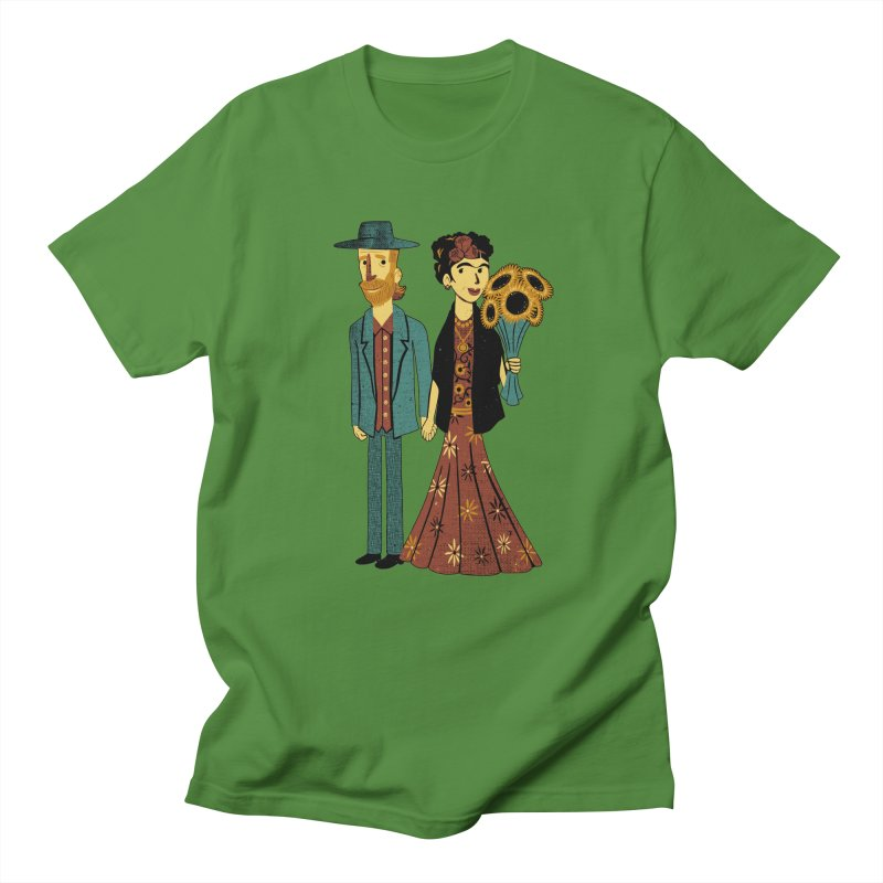 Love is Art Frida Kahlo and Van Gogh  Women's Unisex T-Shirt by Tobe Fonseca's Artist Shop