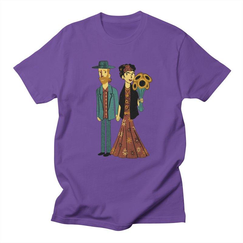 Love is Art Frida Kahlo and Van Gogh  Men's T-shirt by Tobe Fonseca's Artist Shop