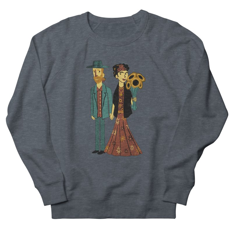 Love is Art Frida Kahlo and Van Gogh  Men's Sweatshirt by Tobe Fonseca's Artist Shop