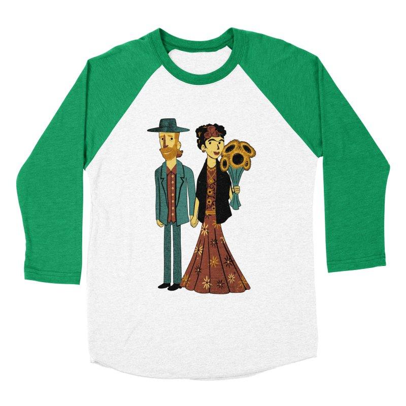 Love is Art Frida Kahlo and Van Gogh  Women's Baseball Triblend T-Shirt by Tobe Fonseca's Artist Shop