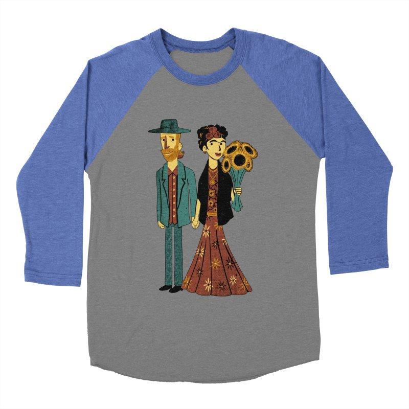 Love is Art Frida Kahlo and Van Gogh  Men's Baseball Triblend T-Shirt by Tobe Fonseca's Artist Shop