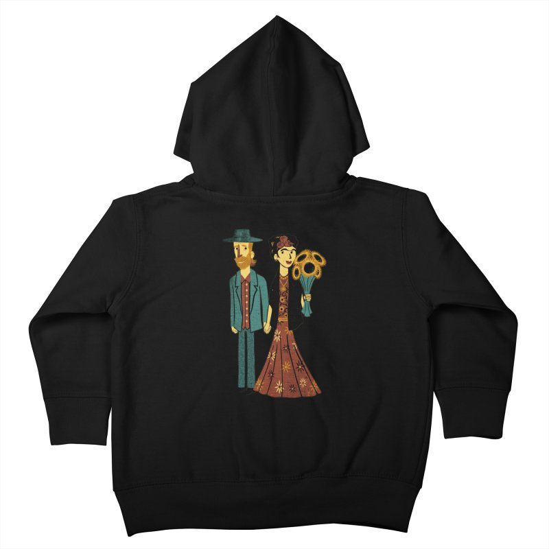 Love is Art Frida Kahlo and Van Gogh  Kids Toddler Zip-Up Hoody by Tobe Fonseca's Artist Shop