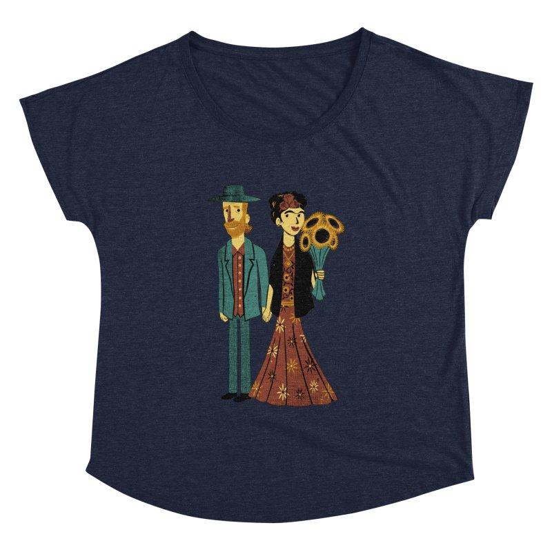 Love is Art Frida Kahlo and Van Gogh  Women's Dolman by Tobe Fonseca's Artist Shop