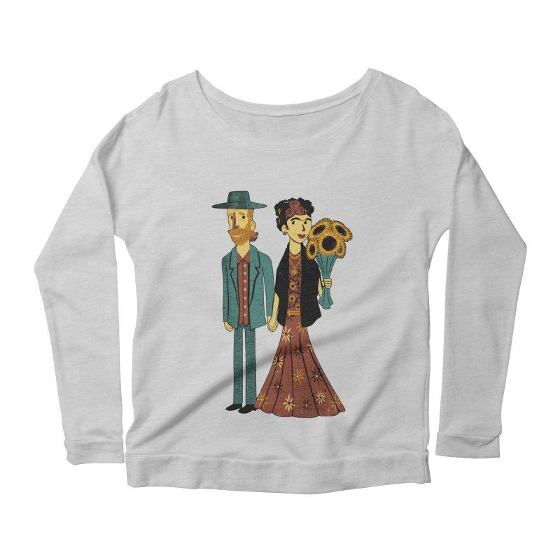 Love is Art Frida Kahlo and Van Gogh  Women's Longsleeve Scoopneck  by Tobe Fonseca's Artist Shop