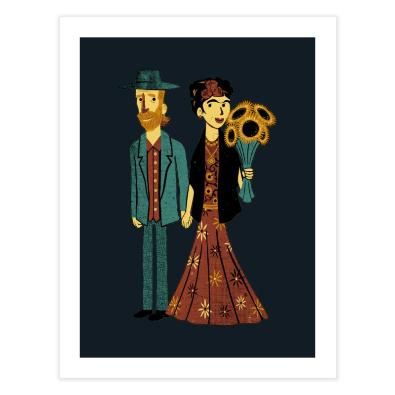 Love is Art Frida Kahlo and Van Gogh  Home Fine Art Print by Tobe Fonseca's Artist Shop