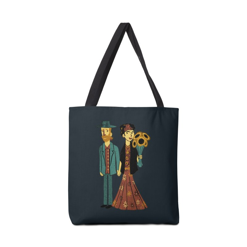 Love is Art Frida Kahlo and Van Gogh  Accessories Bag by Tobe Fonseca's Artist Shop