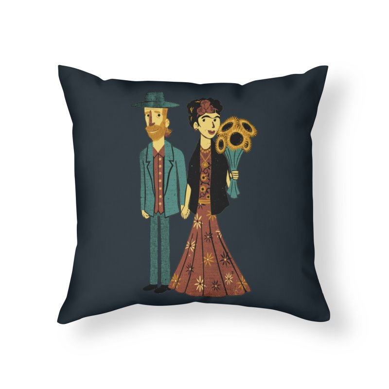 Love is Art Frida Kahlo and Van Gogh  Home Throw Pillow by Tobe Fonseca's Artist Shop