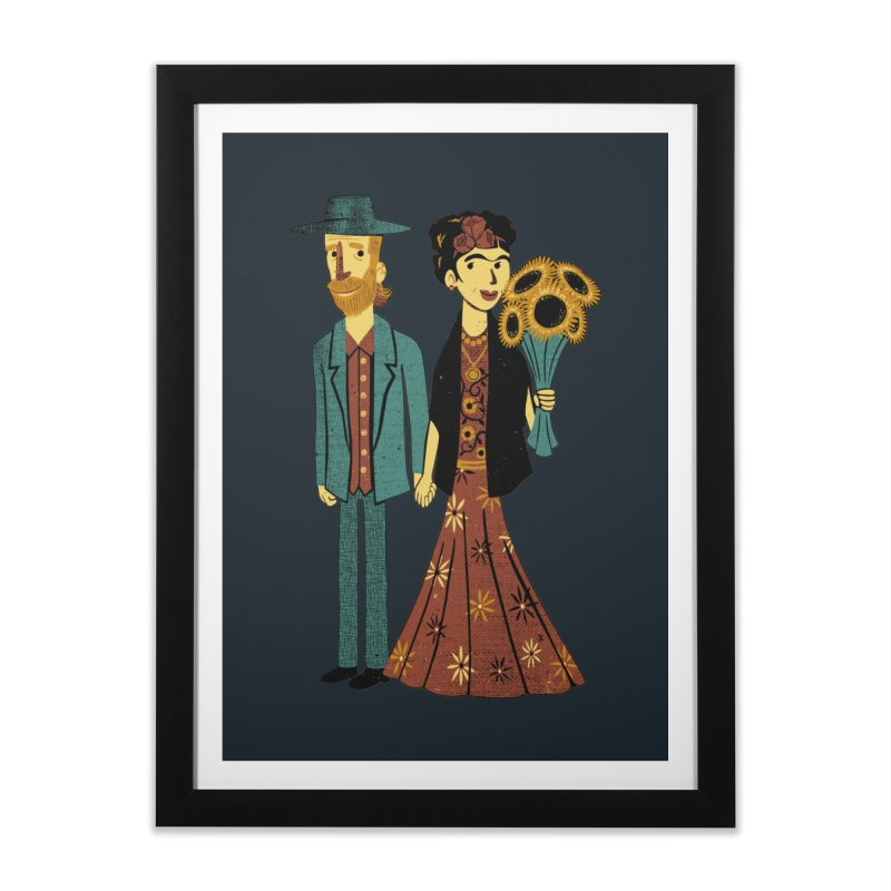 Love is Art Frida Kahlo and Van Gogh  Home Framed Fine Art Print by Tobe Fonseca's Artist Shop