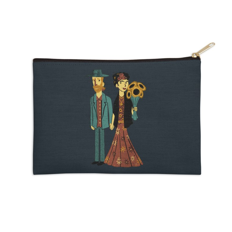 Love is Art Frida Kahlo and Van Gogh  Accessories Zip Pouch by Tobe Fonseca's Artist Shop