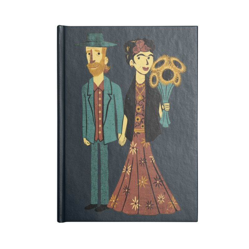 Love is Art Frida Kahlo and Van Gogh  Accessories Notebook by Tobe Fonseca's Artist Shop
