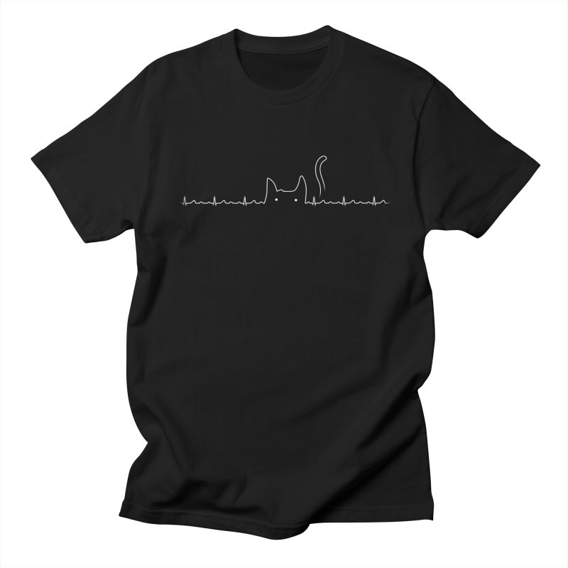 There Is a Cat In My Heart in Men's Regular T-Shirt Black by Tobe Fonseca's Artist Shop