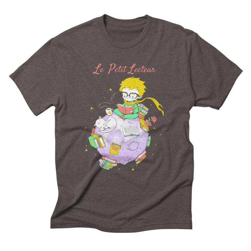 Le Petit Lecteur - The Little Reader Men's Triblend T-shirt by Tobe Fonseca's Artist Shop