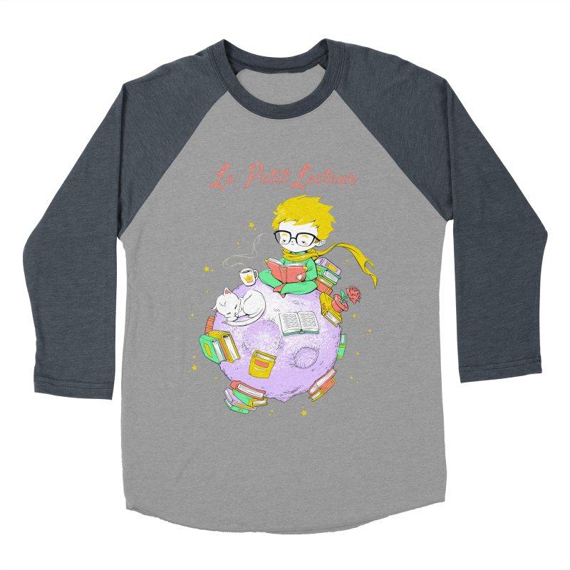 Le Petit Lecteur - The Little Reader Men's Baseball Triblend T-Shirt by Tobe Fonseca's Artist Shop