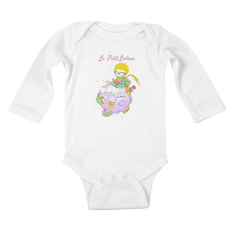 Le Petit Lecteur - The Little Reader Kids Baby Longsleeve Bodysuit by Tobe Fonseca's Artist Shop