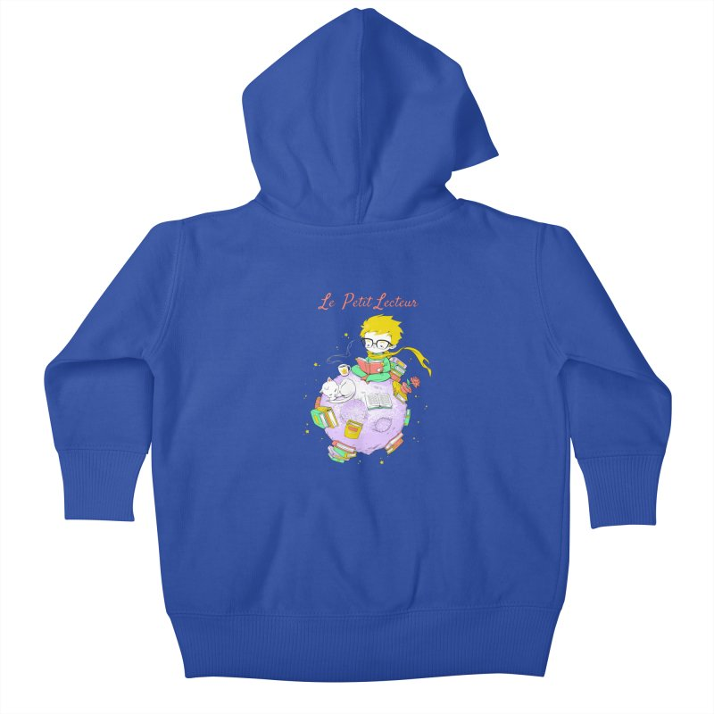 Le Petit Lecteur - The Little Reader Kids Baby Zip-Up Hoody by Tobe Fonseca's Artist Shop