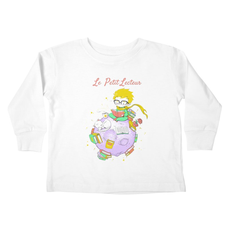 Le Petit Lecteur - The Little Reader Kids Toddler Longsleeve T-Shirt by Tobe Fonseca's Artist Shop