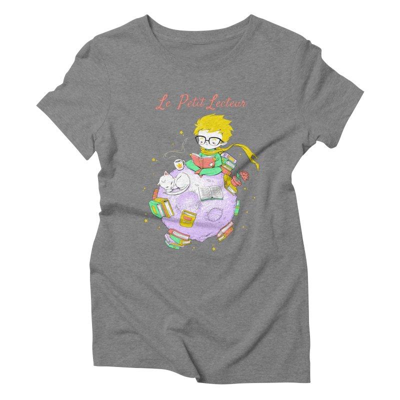 Le Petit Lecteur - The Little Reader Women's Triblend T-shirt by Tobe Fonseca's Artist Shop