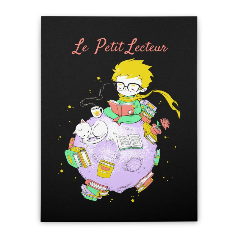 Le Petit Lecteur - The Little Reader Home Stretched Canvas by Tobe Fonseca's Artist Shop