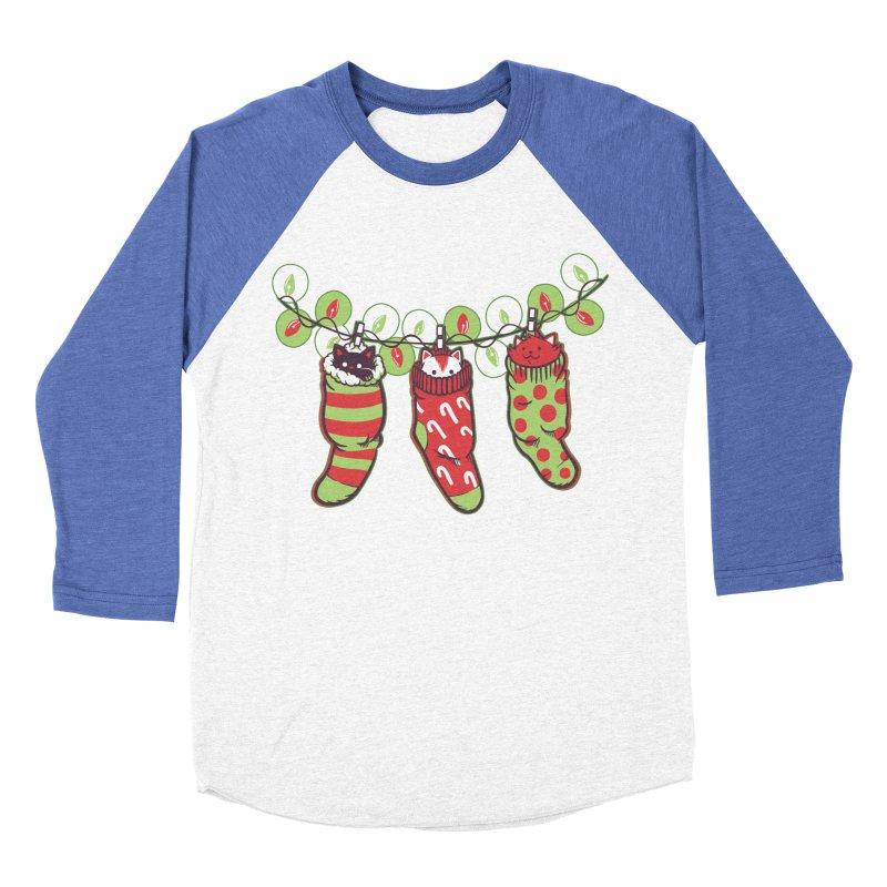 Jingle Meow Men's Baseball Triblend T-Shirt by Tobe Fonseca's Artist Shop