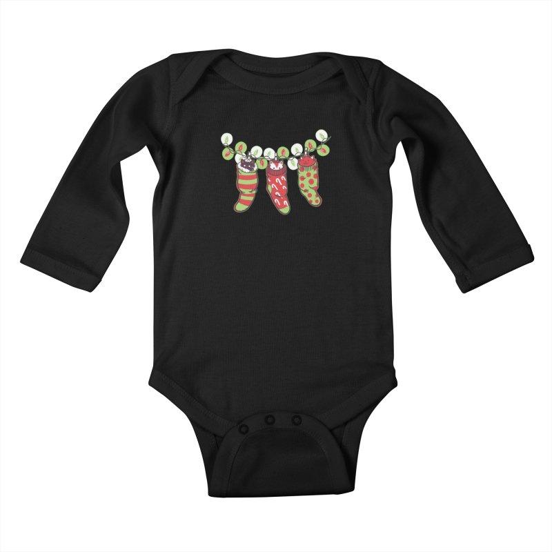 Jingle Meow Kids Baby Longsleeve Bodysuit by Tobe Fonseca's Artist Shop