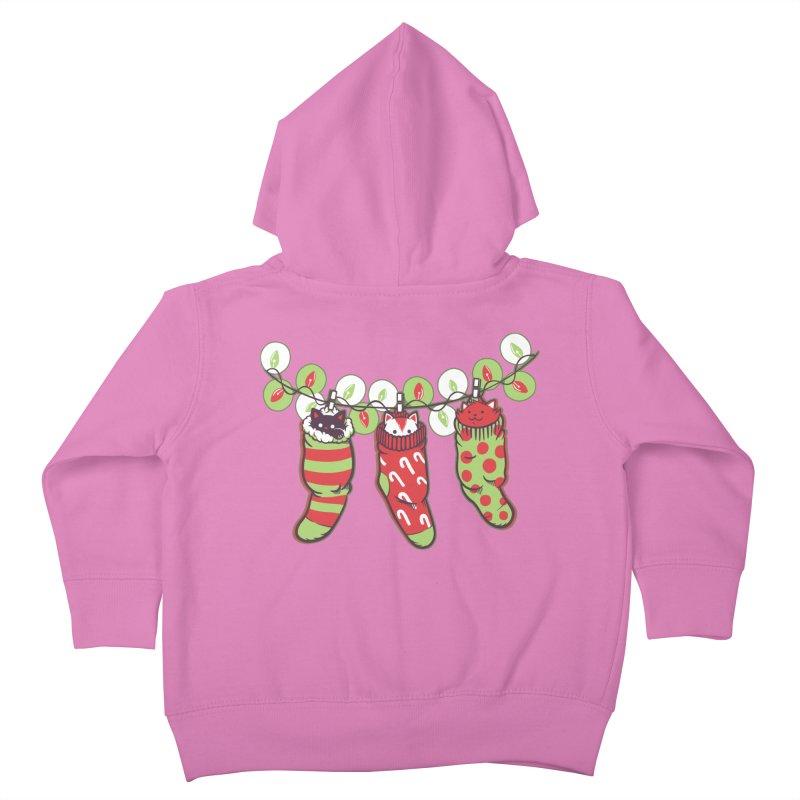 Jingle Meow Kids Toddler Zip-Up Hoody by Tobe Fonseca's Artist Shop