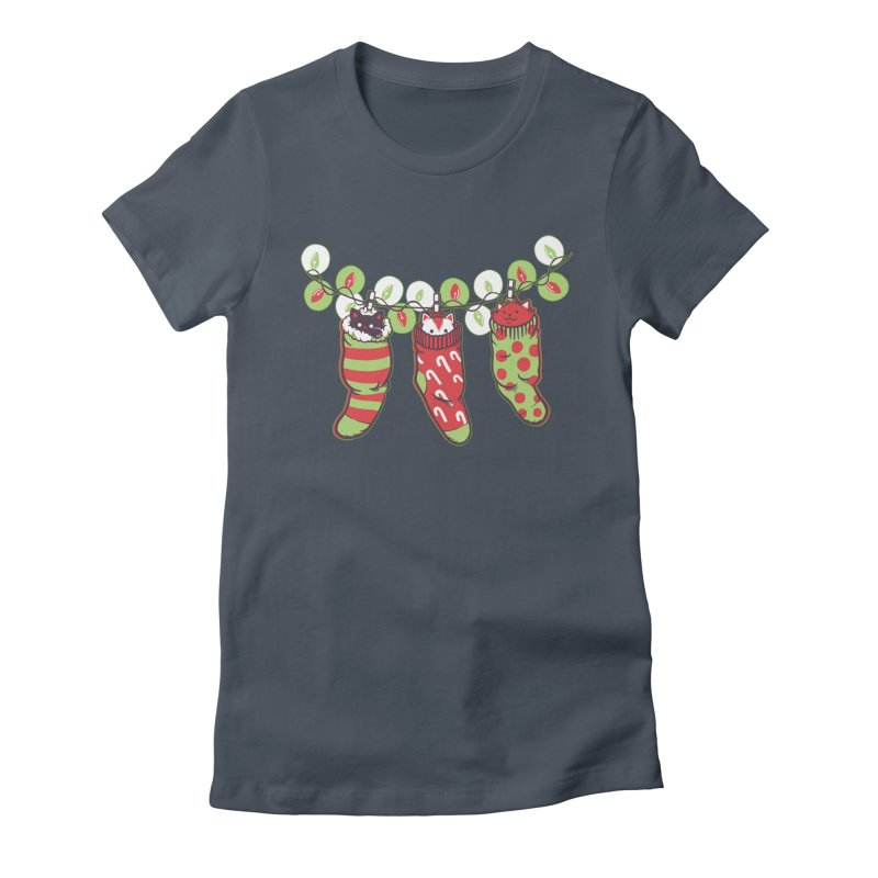 Jingle Meow Women's Fitted T-Shirt by Tobe Fonseca's Artist Shop