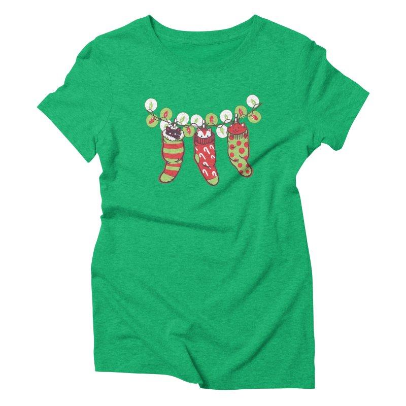 Jingle Meow Women's Triblend T-shirt by Tobe Fonseca's Artist Shop