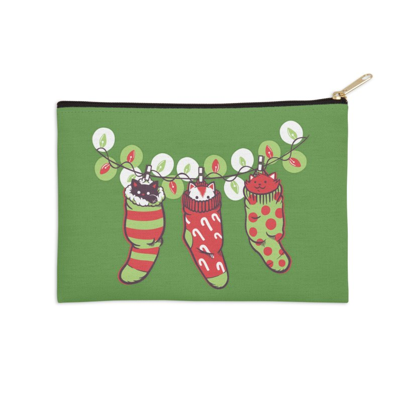 Jingle Meow Accessories Zip Pouch by Tobe Fonseca's Artist Shop