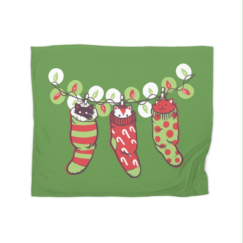 Jingle Meow Home Blanket by Tobe Fonseca's Artist Shop