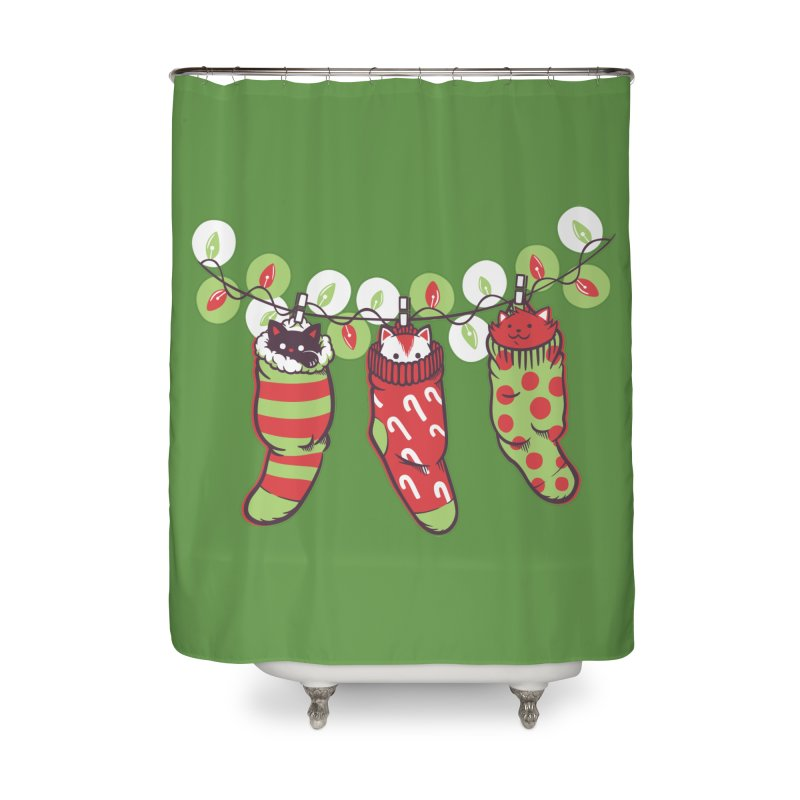 Jingle Meow Home Shower Curtain by Tobe Fonseca's Artist Shop