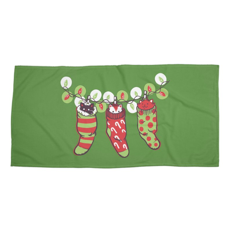 Jingle Meow Accessories Beach Towel by Tobe Fonseca's Artist Shop