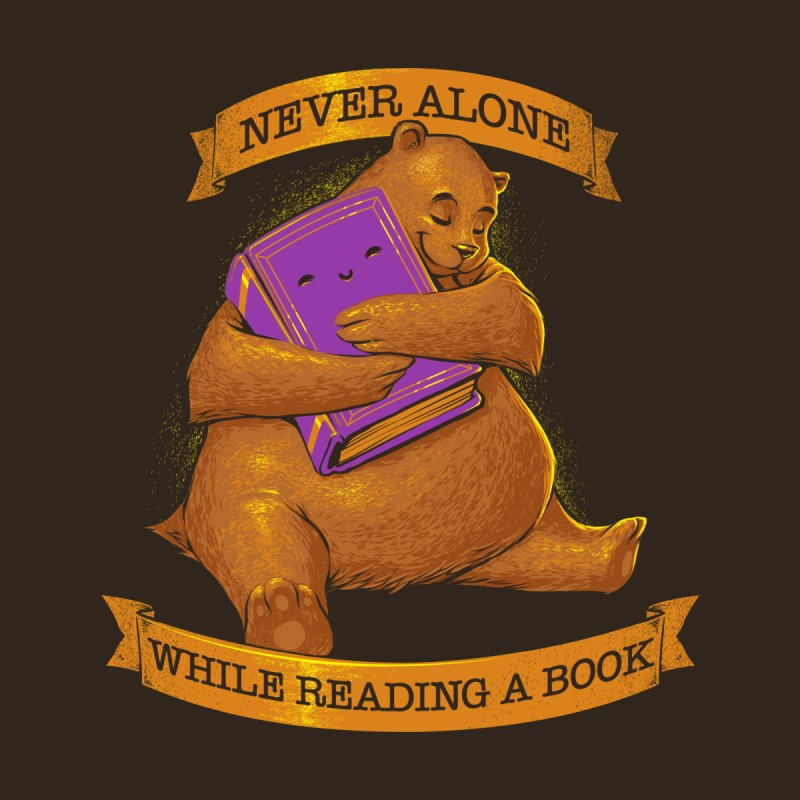 Never Alone While Reading a Book by Tobe Fonseca's Artist Shop