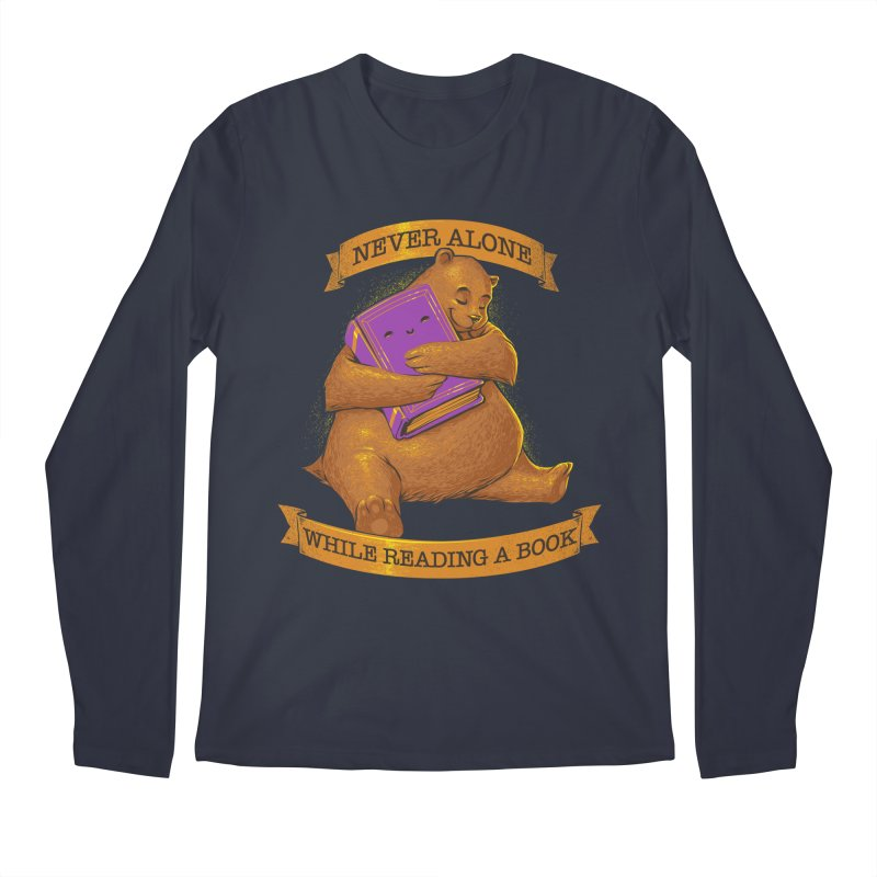 Never Alone While Reading a Book Men's Longsleeve T-Shirt by Tobe Fonseca's Artist Shop