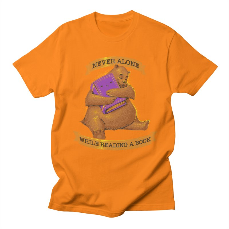 Never Alone While Reading a Book Women's Unisex T-Shirt by Tobe Fonseca's Artist Shop