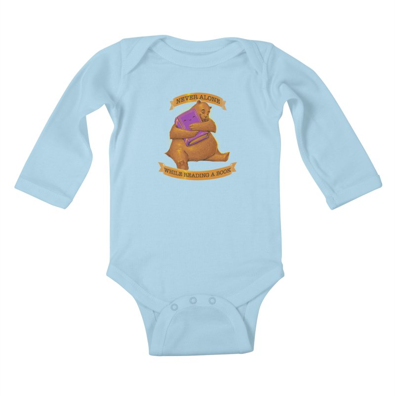 Never Alone While Reading a Book Kids Baby Longsleeve Bodysuit by Tobe Fonseca's Artist Shop