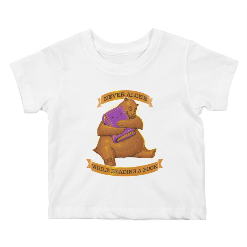 Never Alone While Reading a Book Kids Baby T-Shirt by Tobe Fonseca's Artist Shop