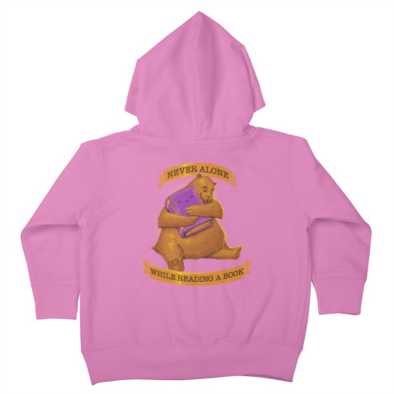 Never Alone While Reading a Book Kids Toddler Zip-Up Hoody by Tobe Fonseca's Artist Shop