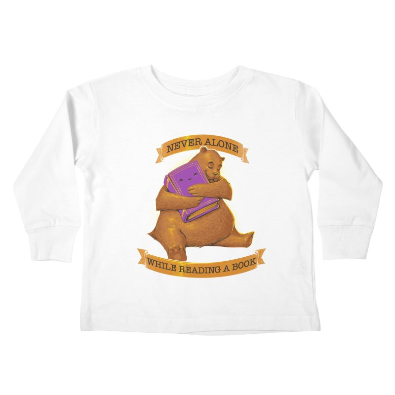 Never Alone While Reading a Book Kids Toddler Longsleeve T-Shirt by Tobe Fonseca's Artist Shop
