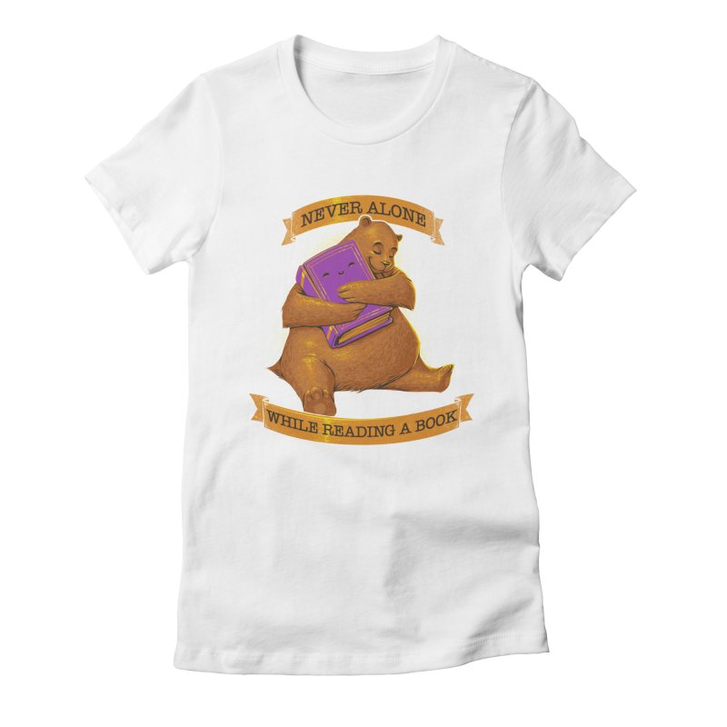 Never Alone While Reading a Book Women's Fitted T-Shirt by Tobe Fonseca's Artist Shop