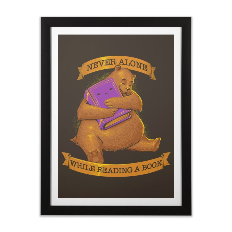 Never Alone While Reading a Book Home Framed Fine Art Print by Tobe Fonseca's Artist Shop