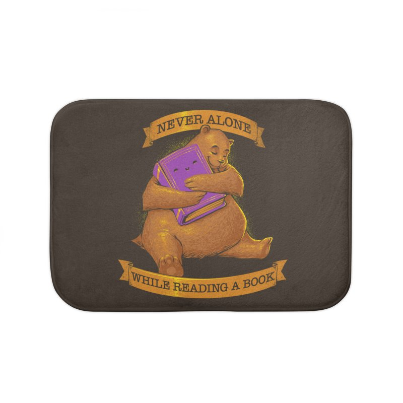 Never Alone While Reading a Book Home Bath Mat by Tobe Fonseca's Artist Shop